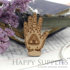 2Pcs Handmade Vintage Ancient Rome Laser cut Palm Wooden Charms,Wooden Pendants,Earring Pendant Charm,Necklace Pendant Charm(BWP02-D)