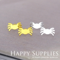 4pcs (2 pairs) Nickel Free Crab Earrings,Golden/Silver Crab Stud Earrings,Crab Earring Studs/Posts,Crab Earring (ZEN161)