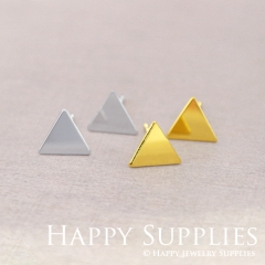 4pcs Nickel Free Creative Triangle Earrings,Golden/Silver Triangle Stud Earrings,Triangle Earring Studs/Posts,Triangle Earring (ZEN182)