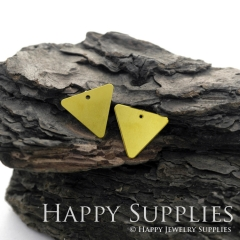 10pcs Raw Brass Geometric Triangle Charm / Pendant, Fit For DIY Mountains Necklace, Brooch, Triangle Earrings (RD514 )
