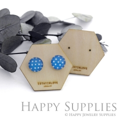 Hexagon Wooden Earrings Cards - Custom Order Available  (WTG05-S)