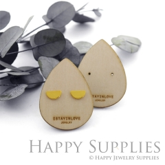 Wooden Earrings Cards - Custom Order Available  (WTG030-S)