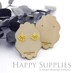 Wooden Earrings Cards - Custom Order Available  (WTG042)