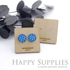Wooden Earrings Cards - Custom Order Available  (WTG052)