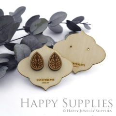 Wooden Earrings Cards - Custom Order Available  (WTG036)