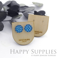 Wooden Earrings Cards - Custom Order Available  (WTG044)