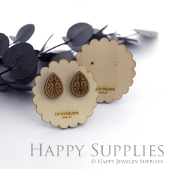 Wooden Earrings Cards - Custom Order Available  (WTG050)