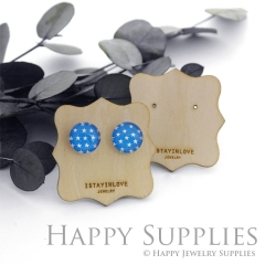 Wooden Earrings Cards - Custom Order Available  (WTG049)