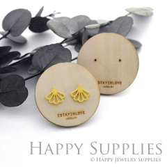 Round Wooden Earrings Cards - Custom Order Available  (WTG012-S)