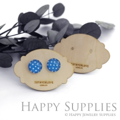 Wooden Earrings Cards - Custom Order Available  (WTG047)
