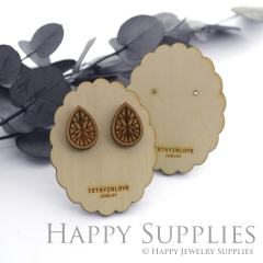 Wooden Earrings Cards - Custom Order Available  (WTG051)