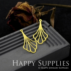 6pcs Raw Brass Leaves Necklace Charm, Leaves Earrings Pendant, Leaves Charm Brass Findings, Leaves Charm (RD542)