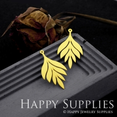 6pcs Raw Brass Leaves Necklace Charm, Leaves Earrings Pendant, Leaves Charm Brass Findings, Leaves Charm (RD555)