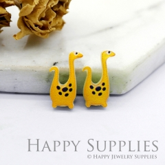 4pcs (2 Pairs) Laser Cut Mini Acrylic Resin Dinosaur Laser Cut Jewelry Pendant / Charm, Fit For Earring, Ring (AR250)