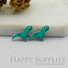 4pcs (2 Pairs) Laser Cut Mini Acrylic Resin Dinosaurs Laser Cut Jewelry Pendant / Charm, Fit For Earring, Ring (AR261)