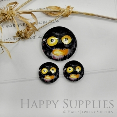 10pcs Handmade Round Photo Glass Cabochon 12mm/20mm/25mm/30mm Halloween Ghost Face Cabochon (PGC-027)