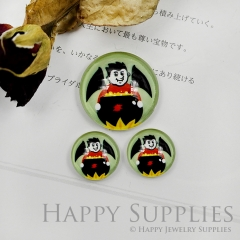 10pcs Handmade Round Photo Glass Cabochon 12mm/20mm/25mm/30mm Halloween Wizard Cabochon (PGC-031)