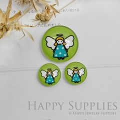 10pcs Handmade Round Photo Glass Cabochon 12mm/20mm/25mm/30mm Colorful Angels Photo Cabochon (PGC-025)