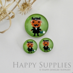 10pcs Handmade Round Photo Glass Cabochon 12mm/20mm/25mm/30mm Halloween Vampire Cabochon (PGC-036)