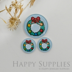 10pcs Handmade Round Photo Glass Cabochon 12mm/20mm/25mm/30mm Chirstmas Gift Photo Cabochon (PGC-049)