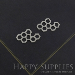 Honeycomb Stainless Steel Charm, Honeycomb Charms, Steel Charm, Stainless Steel Jewelry Findings, Fit For DIY Necklace, Earrings (SSD016)