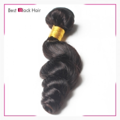 8Inch - 30 Inch Loose Curl 100% Malaysian Remy Hair Weave Natural Black 100g