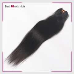 8 Inch - 30 Inch Straight  Peruvian Remy Hair Weave Natural Black 100g