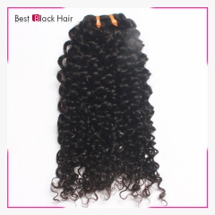 Best Black Brazilian Remy Hair Kinky Curly Human Hair 1pcs