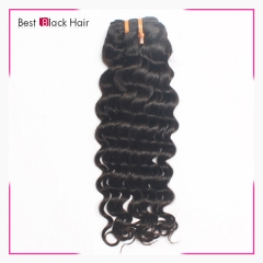 8 Inch - 30 Inch  Brazilian Remy Hair Weft Deep Wave Natural Black 100g