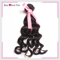 【Top Grade 1PC】Peruvian Loose Curl 100% Virgin Peruvian Human Hair Weave Loose Curly Bundles