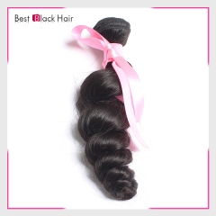 8-30 Inch Top Grade Black Women Buy  Malaysian Human Hair Weave Loose Wave