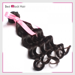 【Top Grade 1PC】Loose Curl Brazilian 100% Virgin Human Brazilian Hair Bundles Hair Weave Natural Color