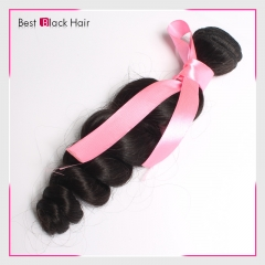 【Top Grade 1PC】 Brazilian Loose Wave Bundles Human Hair Weave Natural Color​​​​​​​ 100% Virgin hair