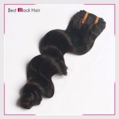8 Inch - 30 Inch Loose Wave  Peruvian Remy Hair Weave Natural Black 100g
