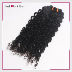 8 Inch - 30 Inch Kinky Curly  Peruvian Remy Hair Weave Natural Black 100g