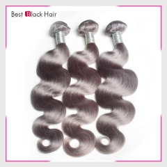 14-24 Inch Top Grade Grey Hair Weave Bundle The Best Quality Gray Hair Body wave