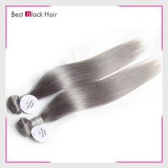 14-24 Inch Top Grade Grey Hair Weave Bundle The Best Quality Gray Hair Straight