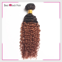 12-26 Inch 100% Ombre human hair natural curly  #1B/#30 hot selling