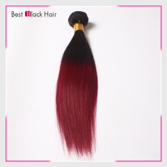 12-26 Inch tangle free 100% Ombre hair extension #1B/bug color natural straight