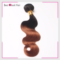 12-26Inch 100% human hair soft Ombre Hair #1B/30 body wave