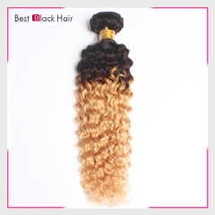 12-26 Inch New Arrival Ombre hair curly  #1B/#27 100% Soft Human Hair
