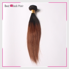 12-26 Inch tangle free 100% Ombre hair extension #1B/#30 color natural straight