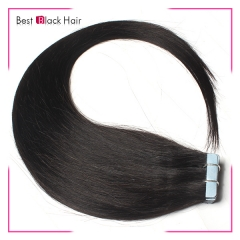 18-24 Inch Straight Tape Hair Extension #1b tape in remy hair skin weft human hair extension