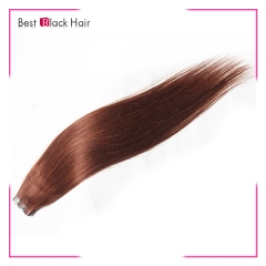 18-24 Inch Straight Tape Hair Extension 33#  tape in remy hair skin weft human hair extension