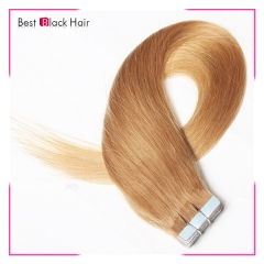 18-24 Inch Straight Tape Hair Extension 27#  tape in remy hair skin weft human hair extension