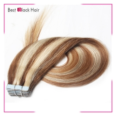 18-24 Inch Straight Tape Hair Extension 8#613 tape in remy hair skin weft human hair extension