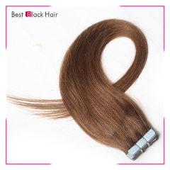 18-24 Inch Straight Tape Hair Extension 6# tape in remy hair skin weft human hair extension