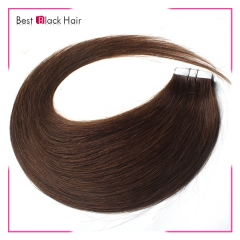18-24 Inch Straight Tape Hair Extension 4# tape in remy hair skin weft human hair extension