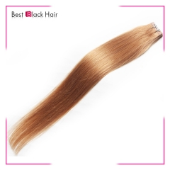 18-24 Inch Straight Tape Hair Extension 10# tape in remy hair skin weft human hair extension