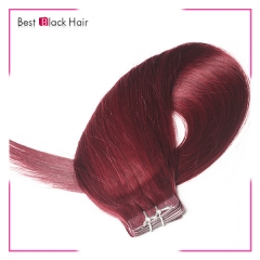 18-24 Inch Straight Tape Hair Extension 99j#  tape in remy hair skin weft human hair extension